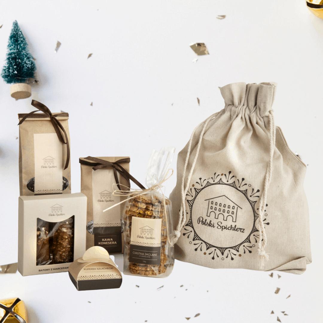 zestawy upominków na święta, polski spichlerz, zestawy prezentowe, boxy prezentowe, gift box