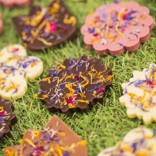 czekoladki promocyjne kwiaty