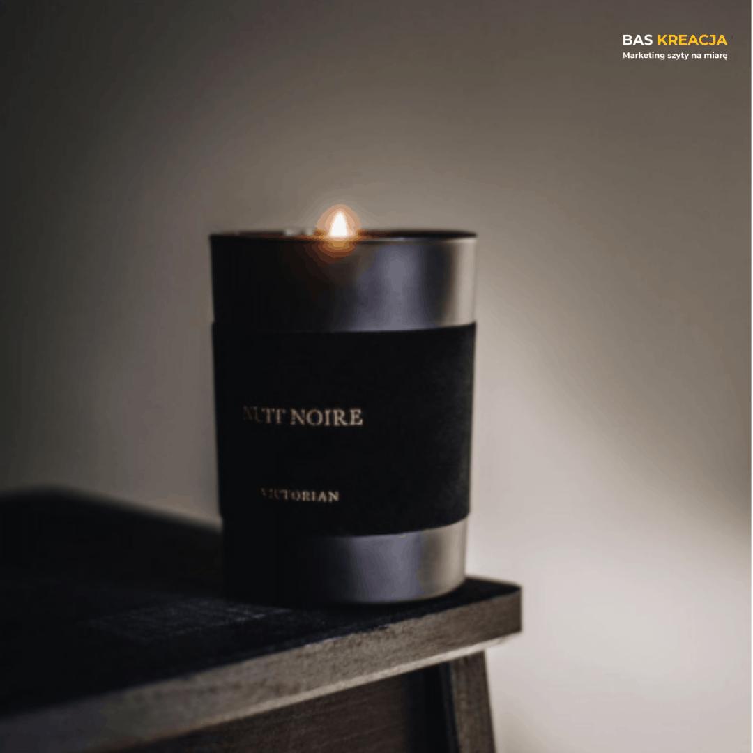 świeczki z logo - VICTORIAN - BAS Kreacja