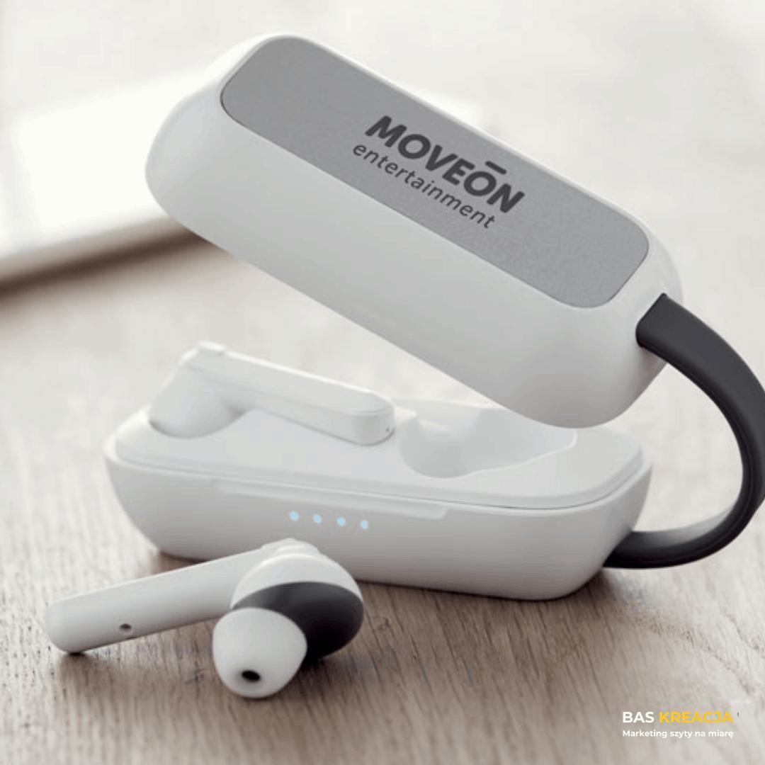 słuchawki bezprzewodowe z logo
