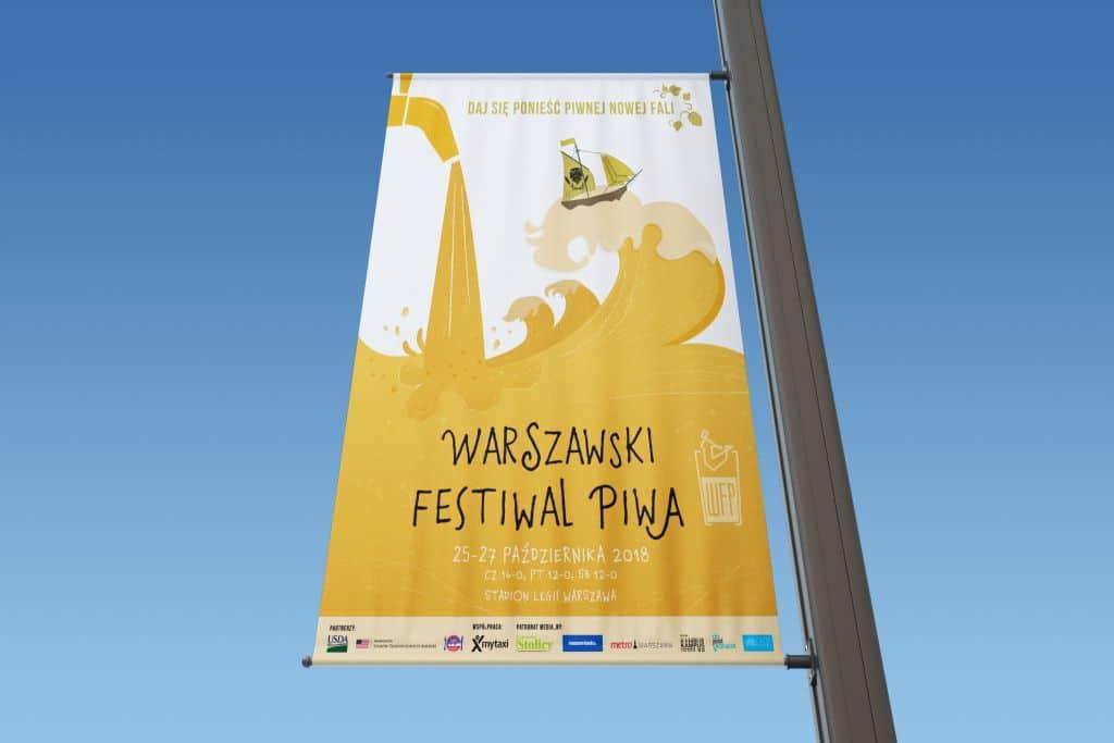 baner reklamowy pionowy