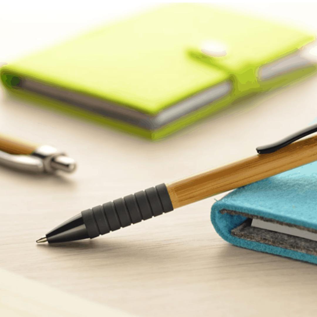 artykuły piśmiennicze - długopisy z bambusa