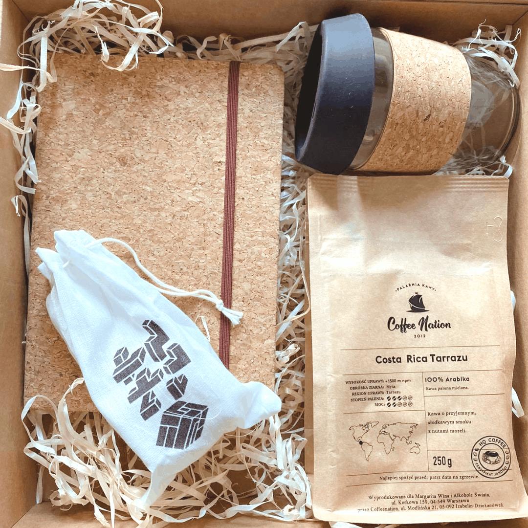 gift box z motywem korka - BAS KREACJA